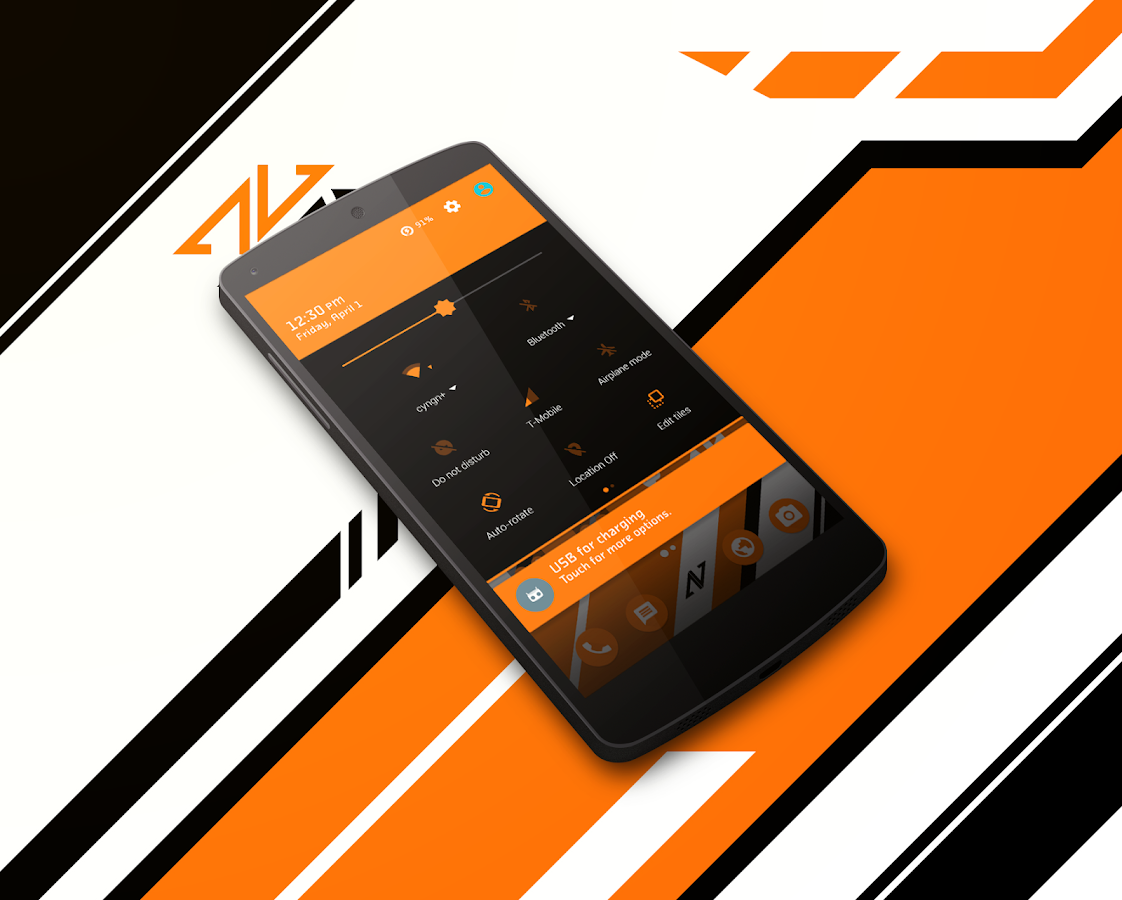 Asiimov Dark CM13 CM12 Theme Screenshot 2