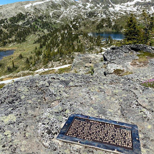 Sheila Lake: This Lake is named in memory of Sheila Leonard who died of cancer - Feb. 7, 1939 - July 18, 1977. She particularly loved the beauty of the flowers and the grandeur of The Trophies. Her ...