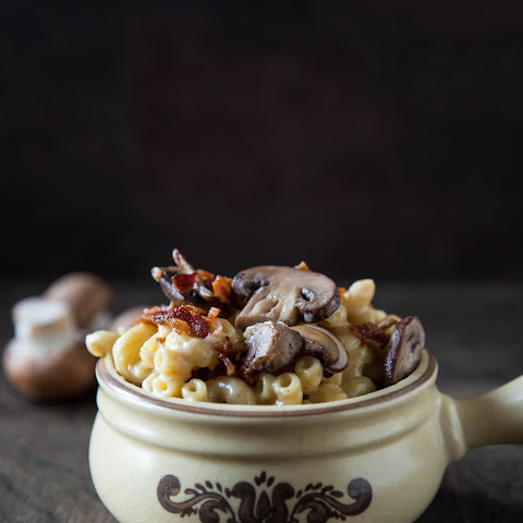 Stove-Top Bacon Mushroom Crème Fraîche Macaroni and Cheese