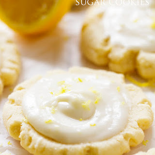 Lemon 'Swig' Sugar Cookies with Lemon Cream Cheese Frosting