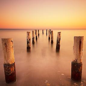 Sunset by Ömür Kahveci - Landscapes Waterscapes ( sunset, long exposure, seascape )