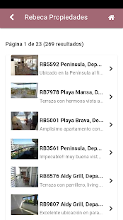 Rebeca Inmobiliaria - screenshot