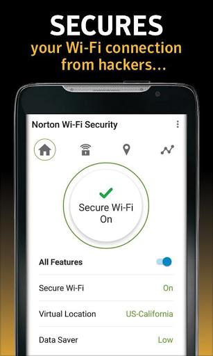 Norton WiFi Security VPN Screenshot