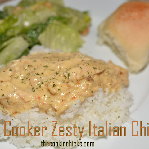 Slow Cooker Zesty Italian Chicken