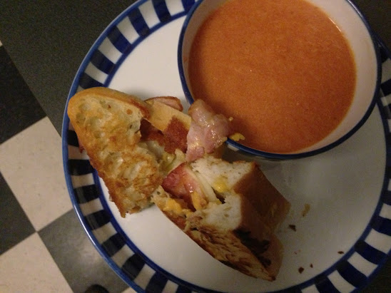 Good Old American Classic Grilled Cheese and Tomato Soup