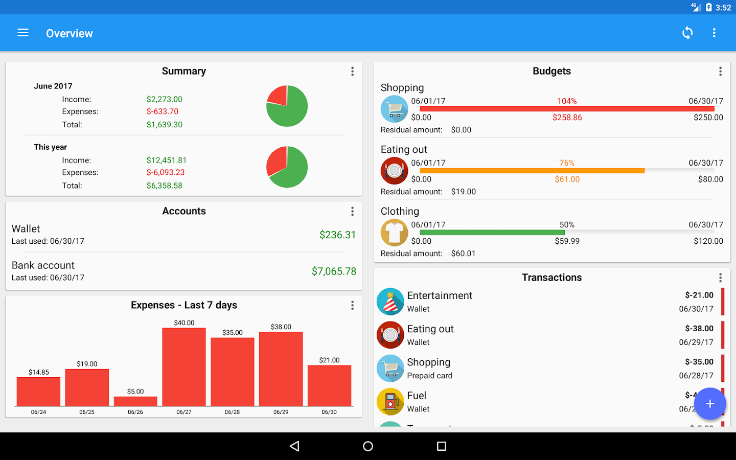 Fast Budget - Expense Manager Screenshot 8