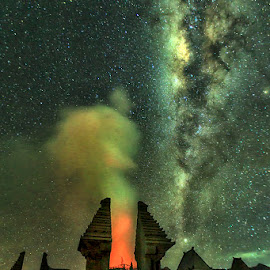 MIlky Way and Caldera by Muhasrul Zubir - Buildings & Architecture Architectural Detail