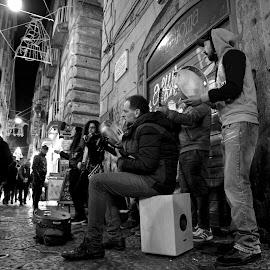 Music street by Luigi Sasso - City,  Street & Park  Street Scenes
