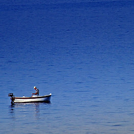 The Old Man and the Sea by Harvey Briglewich - Landscapes Travel ( peaceful, life, sea, tranquility, travel,  )