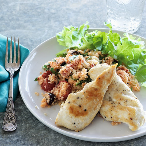 Chicken with Roasted Tomatoes, Parsley & Mint Couscous