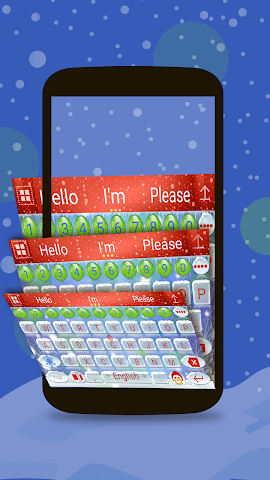 android Animated Christmas Keyboard Screenshot 2