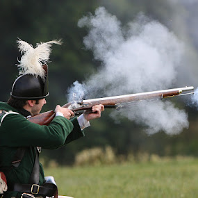 Historical re enactment 3 by Helen Matten - News & Events Entertainment ( jacket, old, green, enactment, historical, fashioned, re, gun, shooting,  )