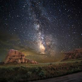 Western Nebraska by Ken Smith - Landscapes Travel ( western ne, landscape, milky way )