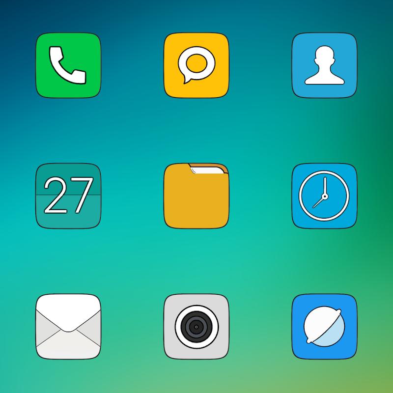 MIUI CARBON - ICON PACK Screenshot 2