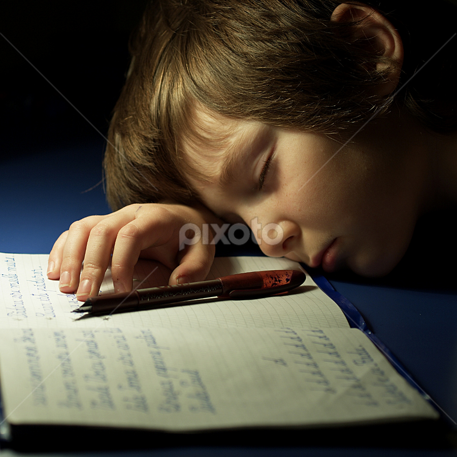 Homework by Ioan-Dan Petringel - Babies & Children Children Candids (  )