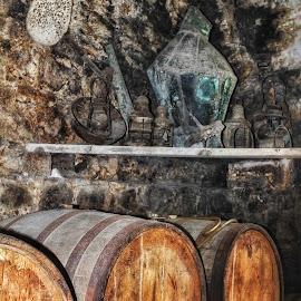 Life of Rum by Susan McDavit - Artistic Objects Antiques ( barrels, tortola, rum, lanterns, antiques, island )
