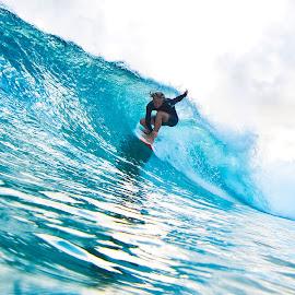 blue Madness  by Nicolas Palacios Hernandez - Sports & Fitness Surfing ( nico, nicolas palacios photography, surfing, shooting down the barrel, gold coast, nico photography, superbank, snapperrocks, barrel, surf, nicolas palacios )