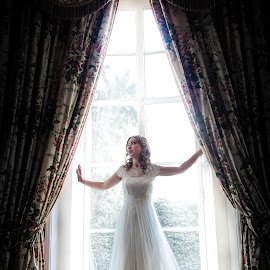 Bride in the window by Dewan Demmer - Wedding Bride ( posed in window )