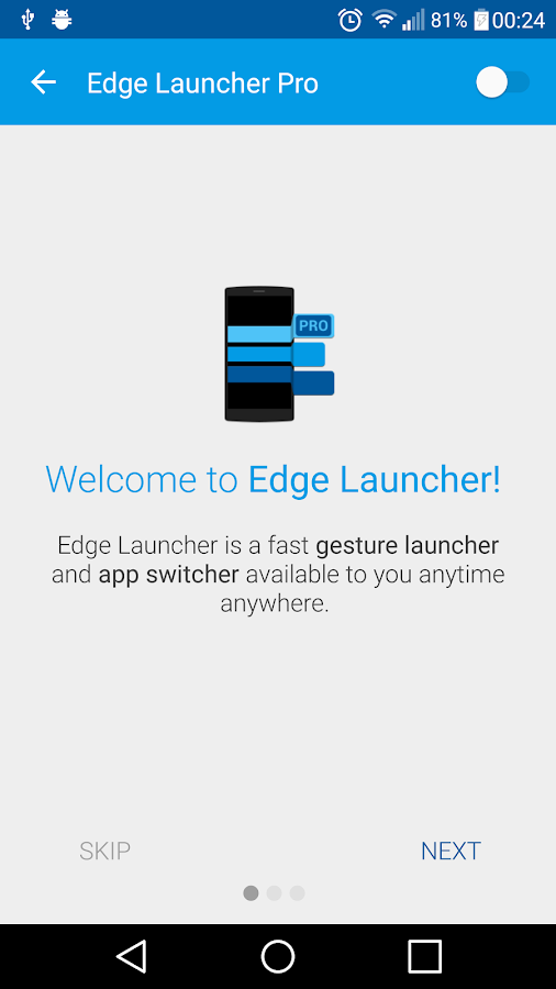Edge Launcher Pro Screenshot 0