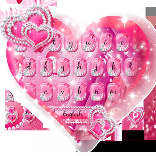 Sparkle Pink Keyboard Theme (app)