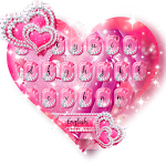 Sparkle Pink Keyboard Theme Icon