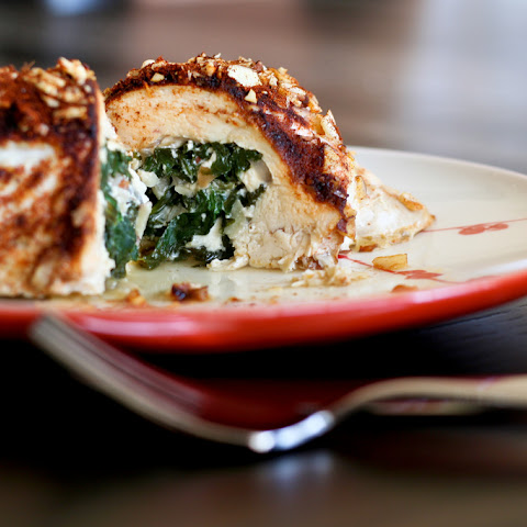 Chicken Stuffed with Spinach, Feta & Almonds