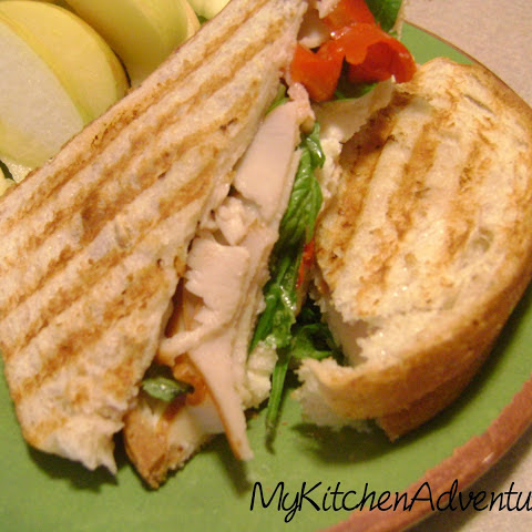 Turkey, Roasted Pepper, and Ricotta Panini