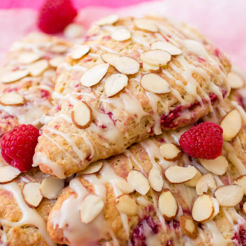White Chocolate Raspberry Almond Scones