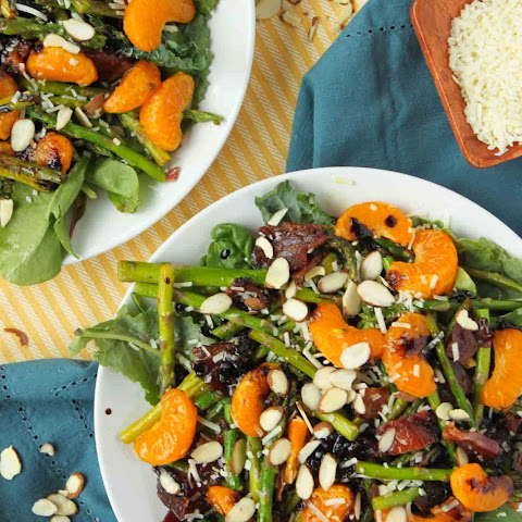 Bacon and Orange Balsamic Asparagus Salad