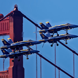 Blue Angels 807 by Raphael RaCcoon - Transportation Airplanes ( blue angels )