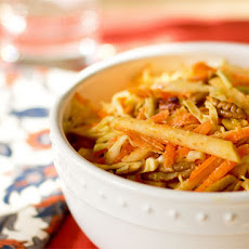 Apple, Carrot and Pecan Slaw with Curry Dressing