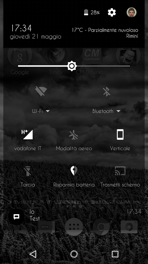 Transparent Black - CM13 Theme Screenshot 1