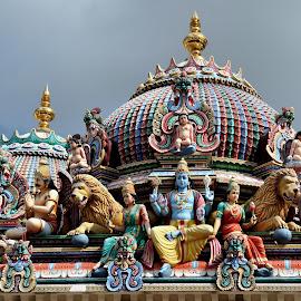 Sri Mariamman by Tomasz Budziak - Buildings & Architecture Architectural Detail ( asia, architecture, singapore )