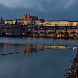 Prague by Robert Benčík - City,  Street & Park  Night