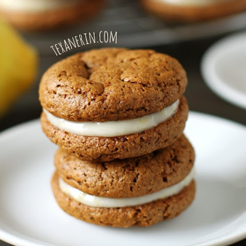 Chewy Ginger Sandwich Cookies with Lemon Filling