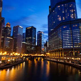 Chi-town by Cristobal Garciaferro Rubio - Buildings & Architecture Other Exteriors ( chicago buildings, chi-town, reflections, chicago, pwcarcreflections-dq, river )