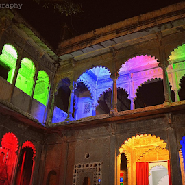 by Chandni Tolani - Buildings & Architecture Public & Historical ( haweli, historical, india, lights )