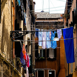 Dirty Laundry by Louis Grotz - City,  Street & Park  Historic Districts