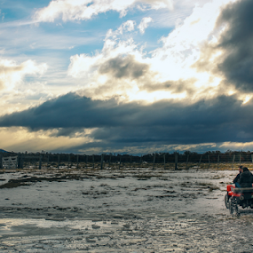 Ride outside by Edi Libedinsky - Transportation Other ( ride, patagonia, ice, wheels, river,  )
