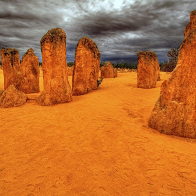 Desert Pinnacles by Steve Hatton - Landscapes Deserts
