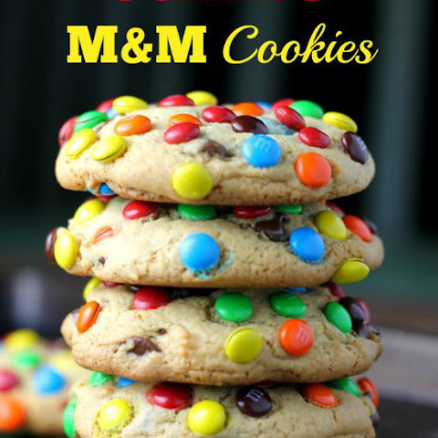 JUMBO 'Soft Batch' M&M Cookies