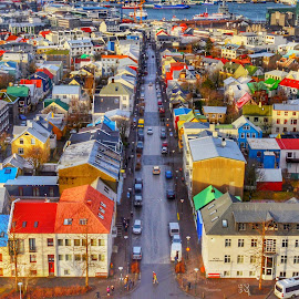 Downtown Reykjavik  by Alex Mednick - Buildings & Architecture Homes