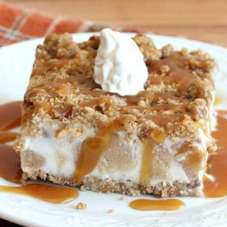 Frozen Caramel-Apple Crunch Cake
