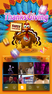 Thanksgiving Emoji Keyboard - screenshot