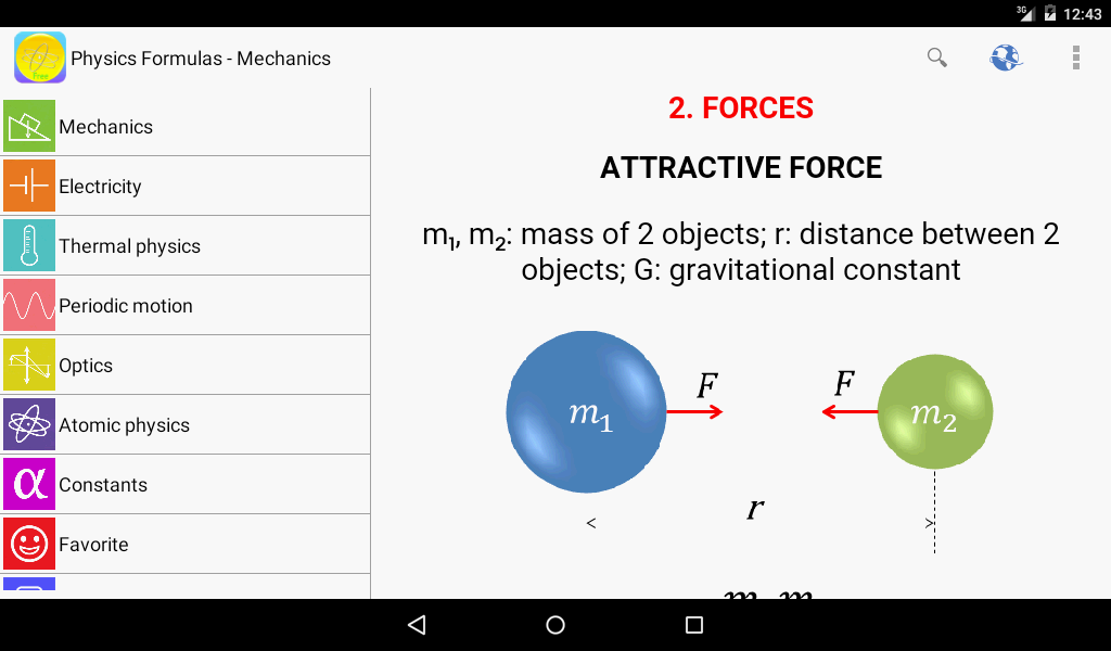 Physics Formulas Free Screenshot 5