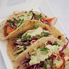 Our Favorite Fish Tacos with Avocado Crema & Citrus Slaw