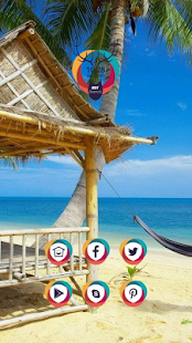 Seaside sandy beach theme - screenshot