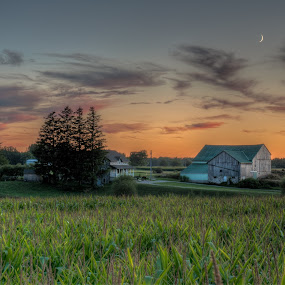 Twilight Farm by William Ducklow - Landscapes Sunsets & Sunrises
