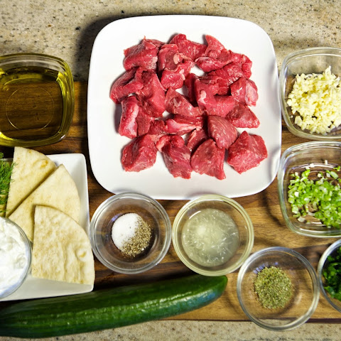 Lamb Kabobs and Tzatziki Sauce [Video]