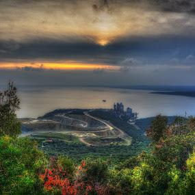Sunset HDR by Luka Milevoj - Landscapes Waterscapes ( istra, hdr, koromacno, sunset, croatia, landscape )
